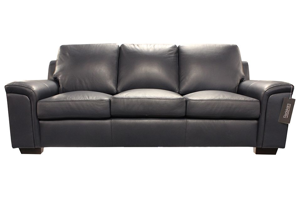 Leather Living Icon Sofa - Navy