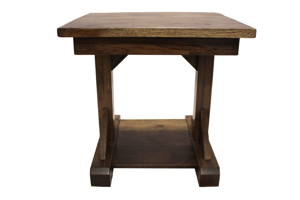 Rustic Hickory End Table