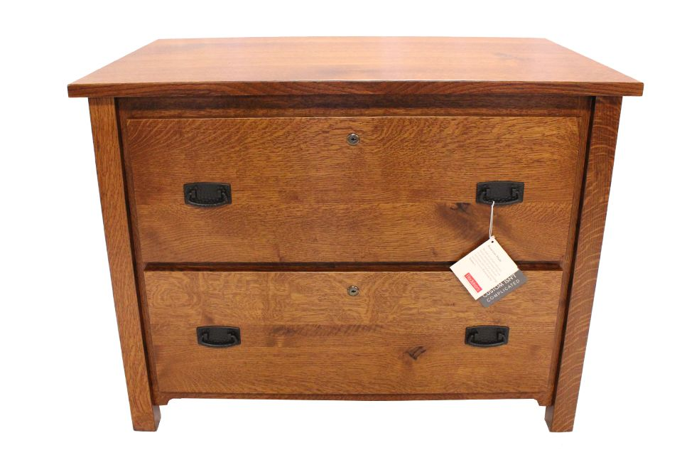 Rustic Quartersawn Oak Lateral File Cabinet