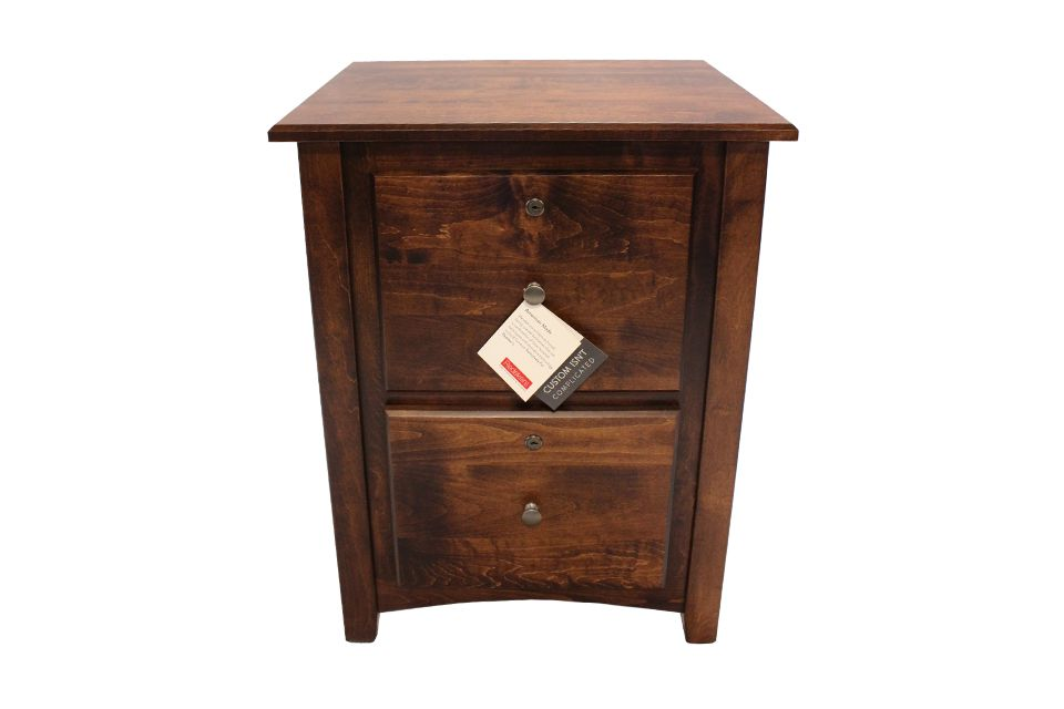 Brown Maple File Cabinet
