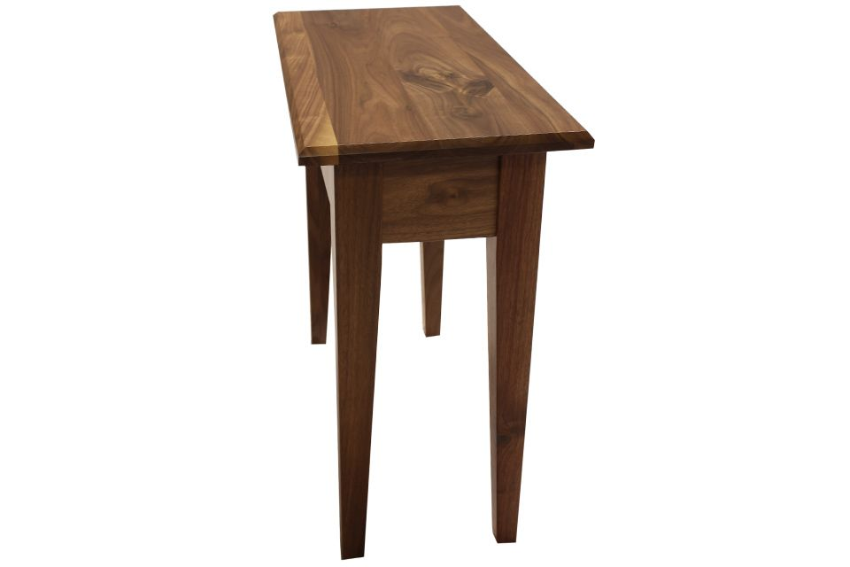 Rustic Walnut End Table