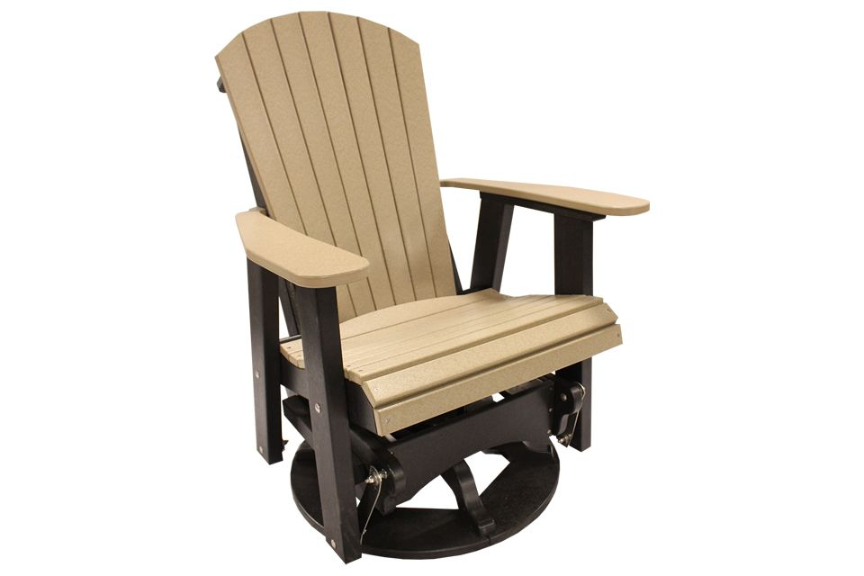 Outdoor Swivel Glider - Weathered Wood/Black