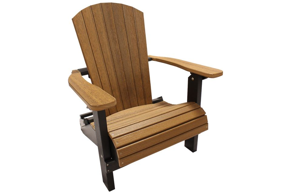 Outdoor Folding Adirondack Chair- Antique Mahagony/Black