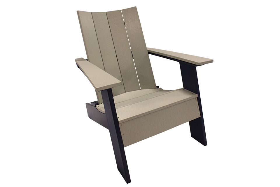 Outdoor Modern Adirondack Chair - Light Gray/Patriot Blue