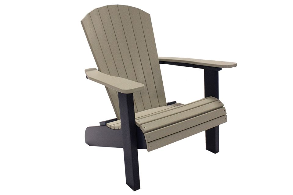 Outdoor Adirondack Chair - Light Gray/Patriot Blue
