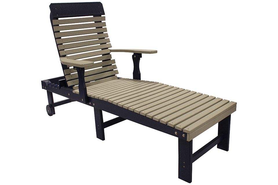 Outdoor Chaise- Light Grey/Patriot Blue