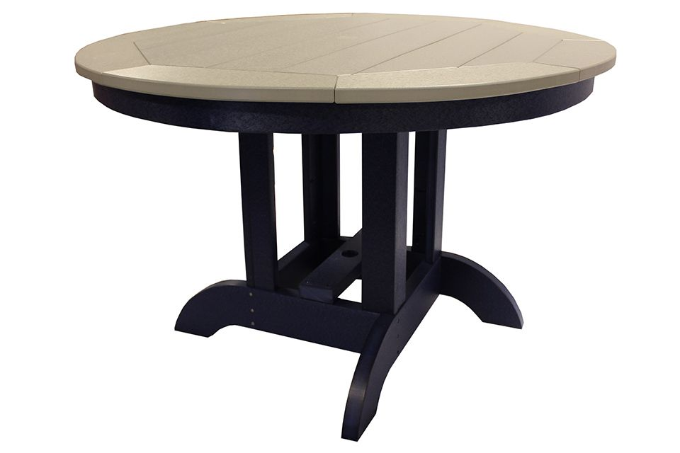 Outdoor Round Dining Table - Light Gray/Patriot Blue