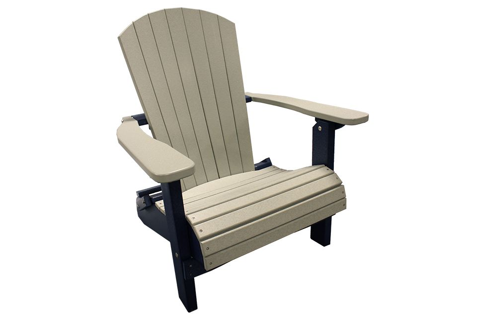 Outdoor Folding Adirondack Chair - Light Gray/Patriot Blue