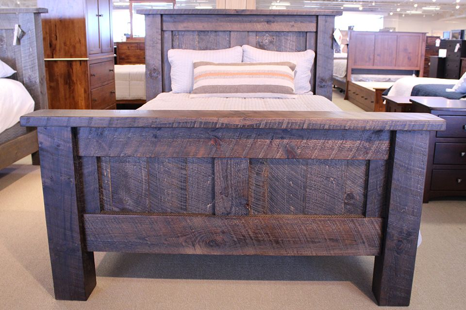 Long Oak Queen Bed