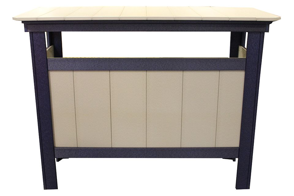 Outdoor Serving Bar- Light Grey/Patriot Blue