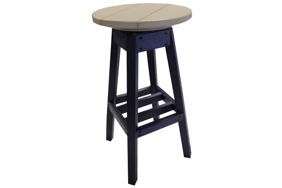 Outdoor Swivel Barstool - Light Gray/Patriot Blue