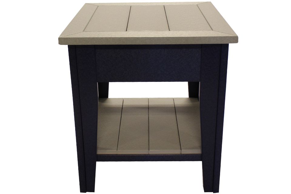 Outdoor End Table- Light Grey/Patriot Blue