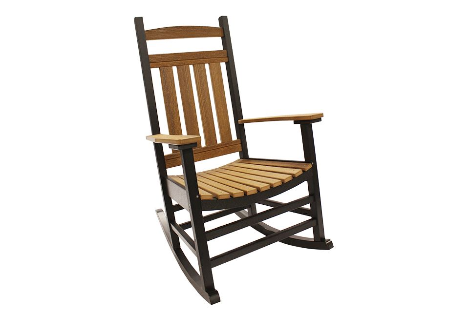 Outdoor Rocking Chair - Antique Mahogany/Black
