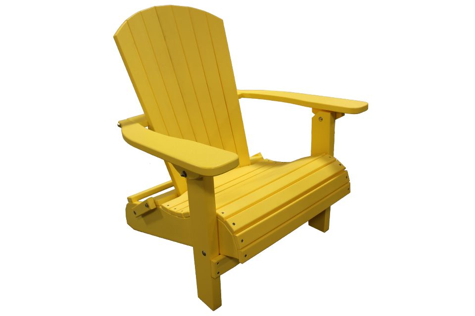 Outdoor Folding Adirondack Chair - Lemon Yellow