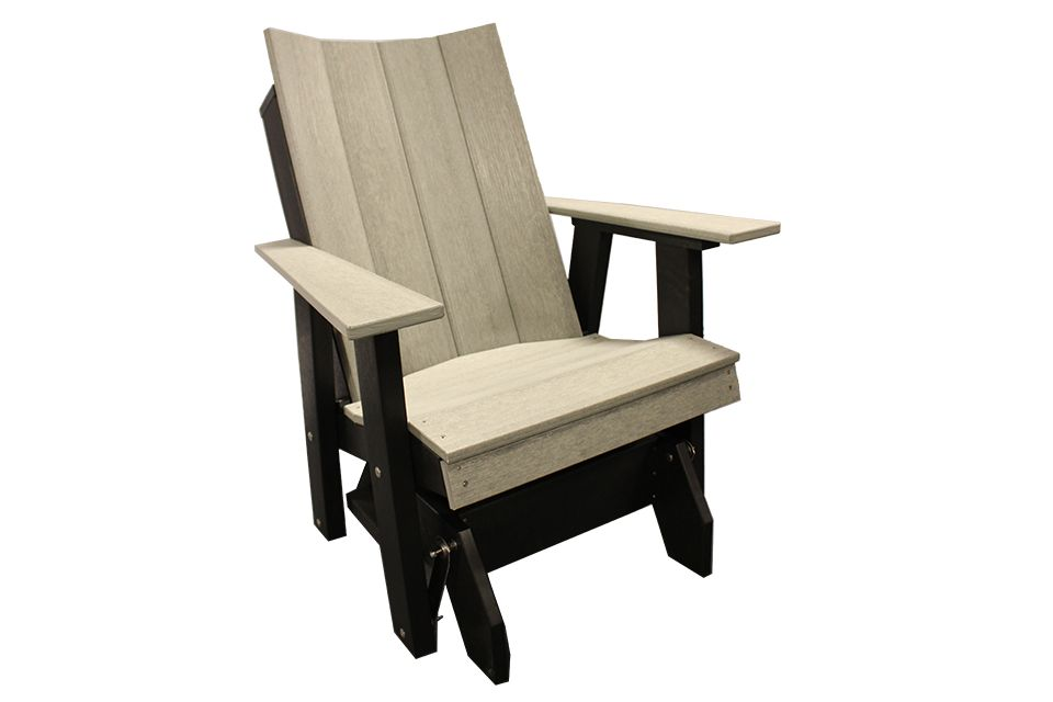 Outdoor Glider - Driftwood Gray/Black