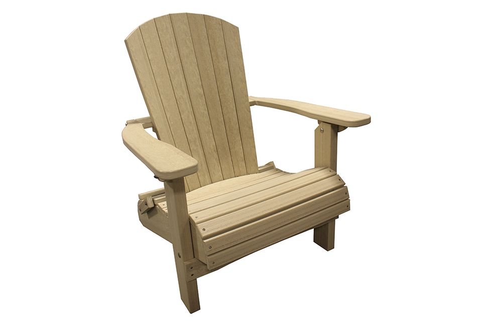 Outdoor Folding Adirondack Chair - Birchwood