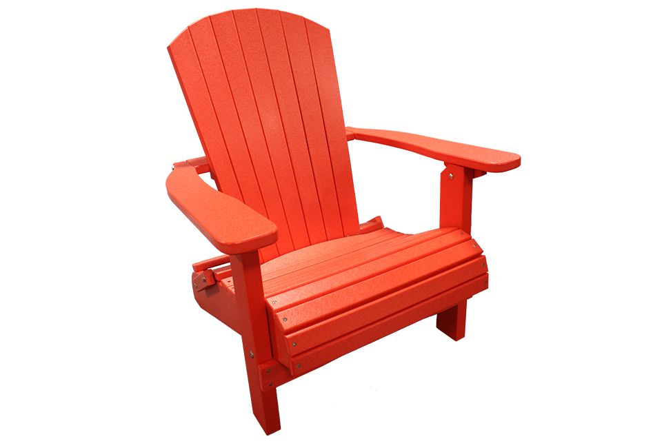 Outdoor Folding Adirondack Chair - Bright Red