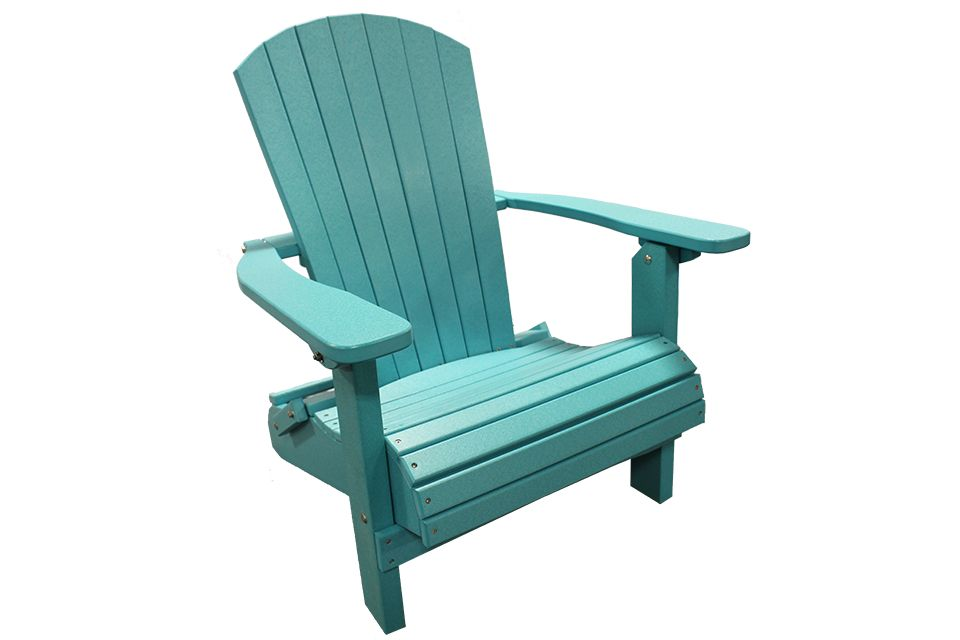 Outdoor Folding Adirondack Chair - Aruba Blue