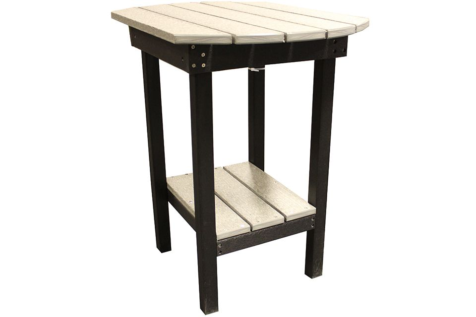 Outdoor End Table- Driftwood/Black