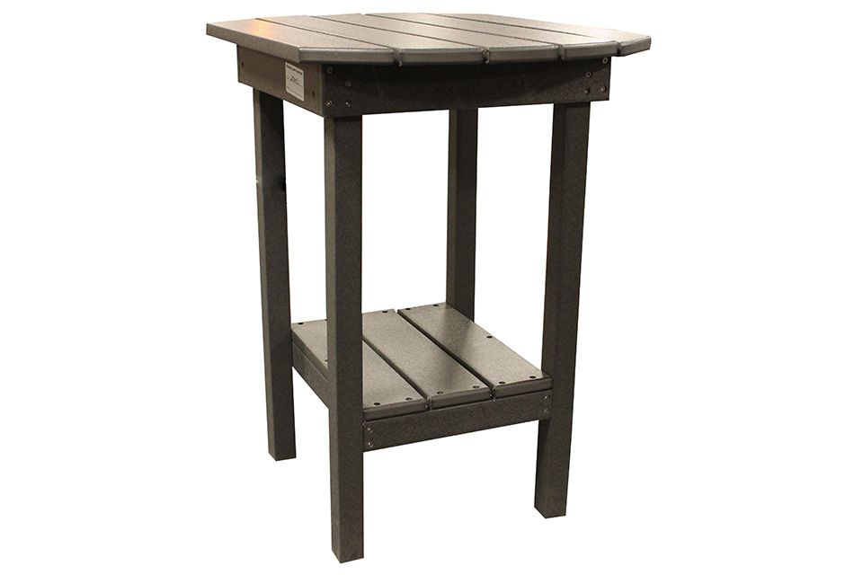 Outdoor End Table- Dark Grey