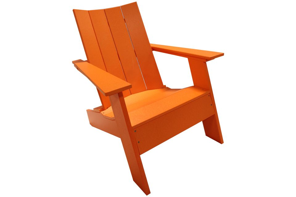 Outdoor Modern Adirondack Chair - Bright Orange
