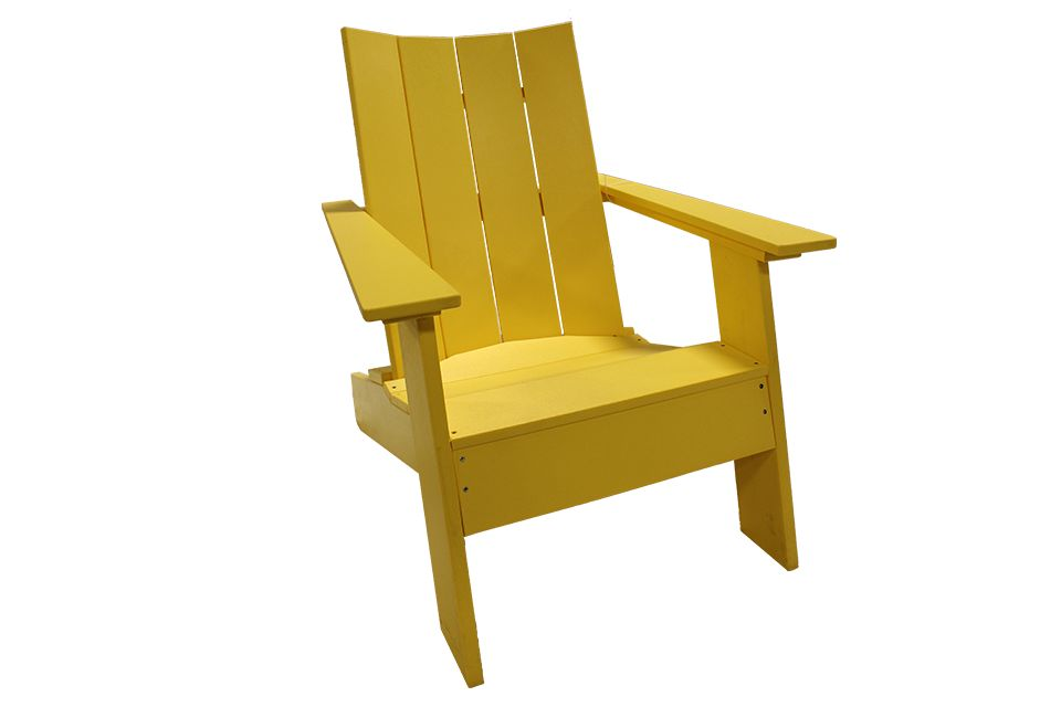 Outdoor Modern Adirondack Chair - Lemon Yellow