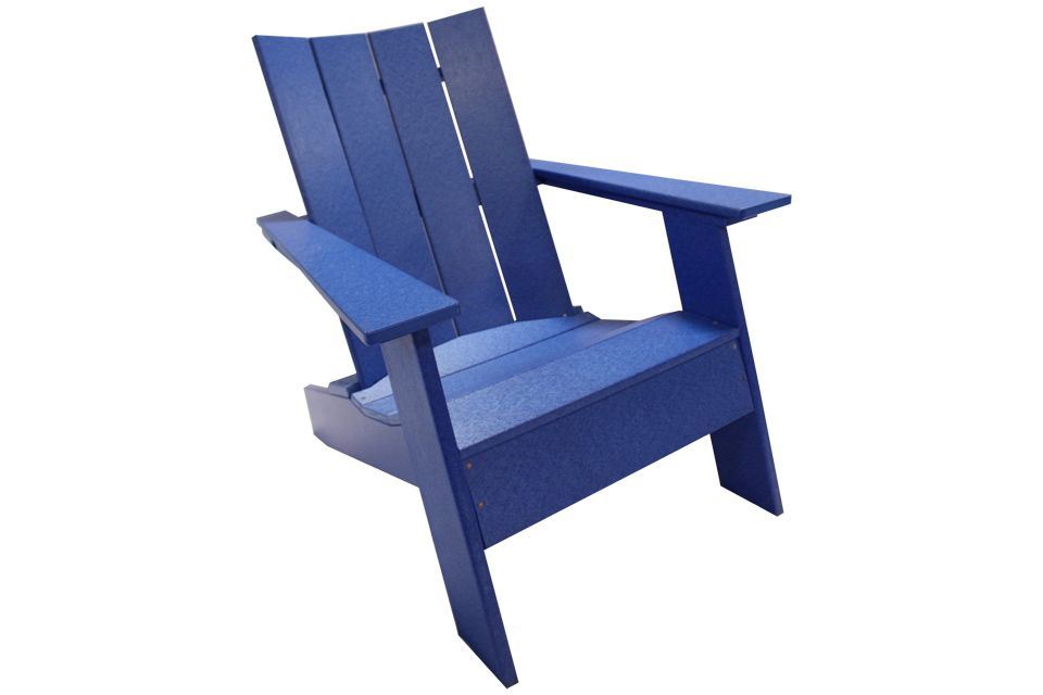 Outdoor Modern Adirondack Chair - Blue