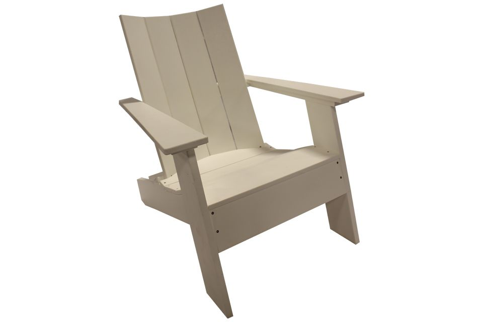 Outdoor Modern Adirondack Chair - White