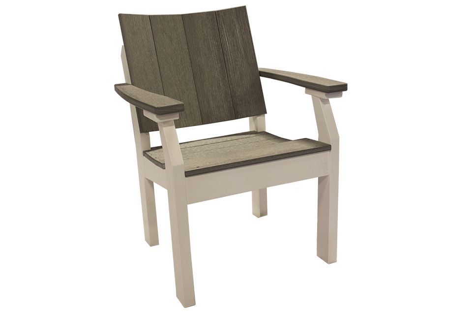 Outdoor Dining Chair - Driftwood Grey/White