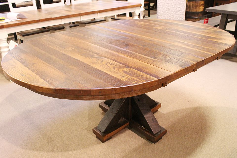 Reclaimed Oak Pedestal Dining Table