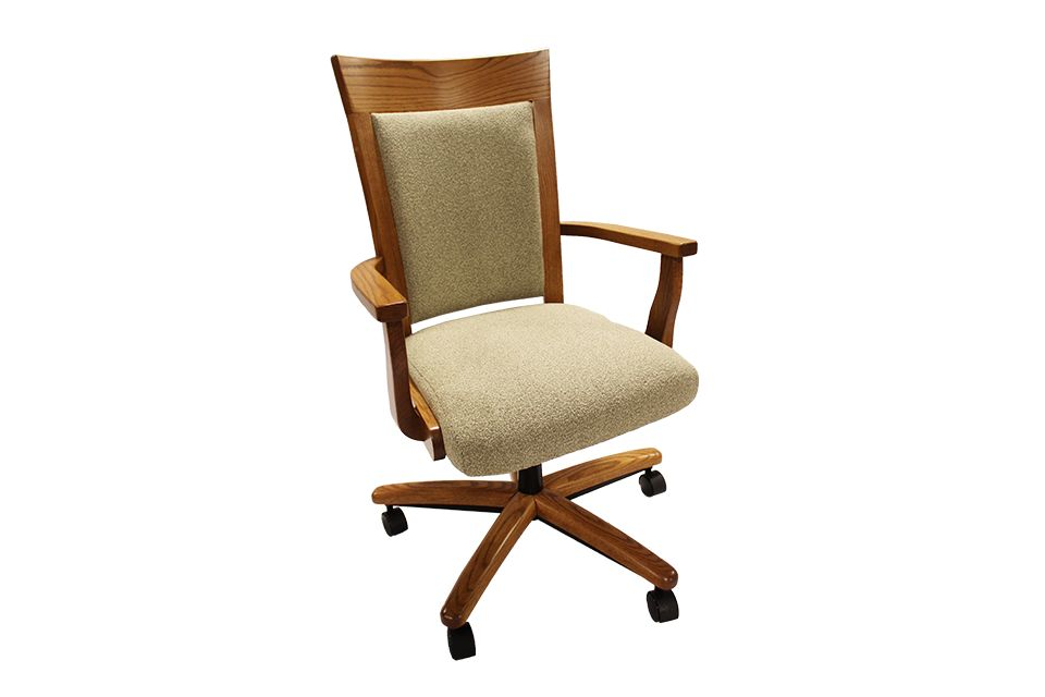 Oak Arm Chair with Castors