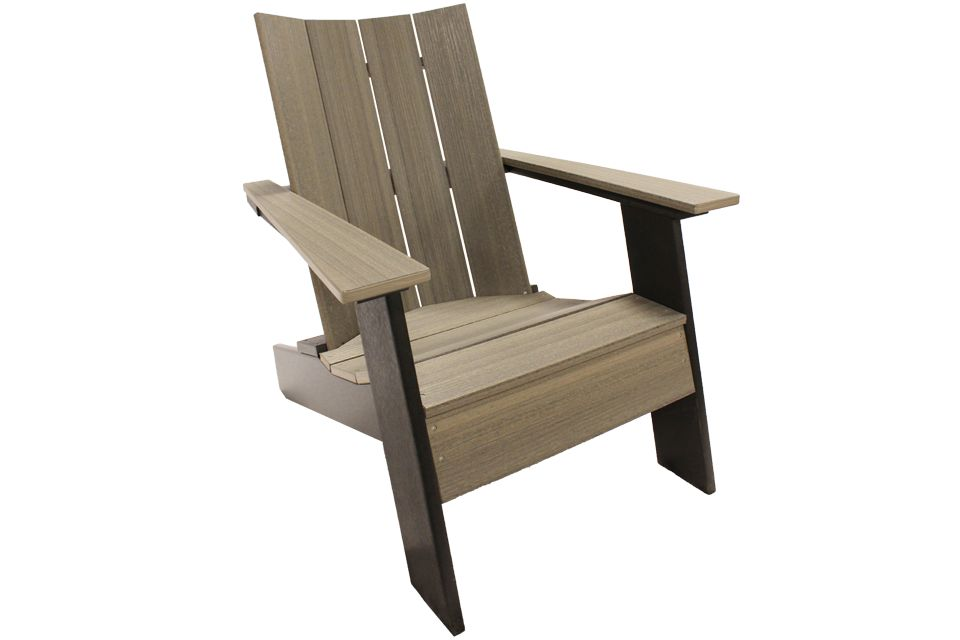 Outdoor Modern Adirondack - Coastal Gray/Black