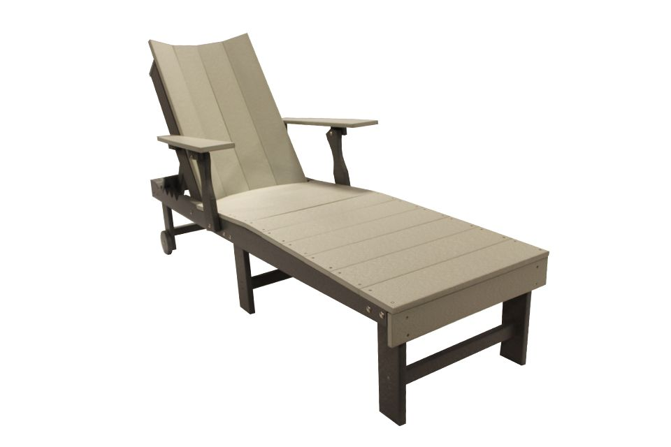 Outdoor Modern Chaise Lounge - Light Gray/Dark Gray