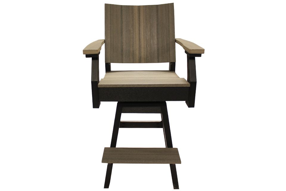Outdoor Pub Height Chair - Coastal Gray/Black