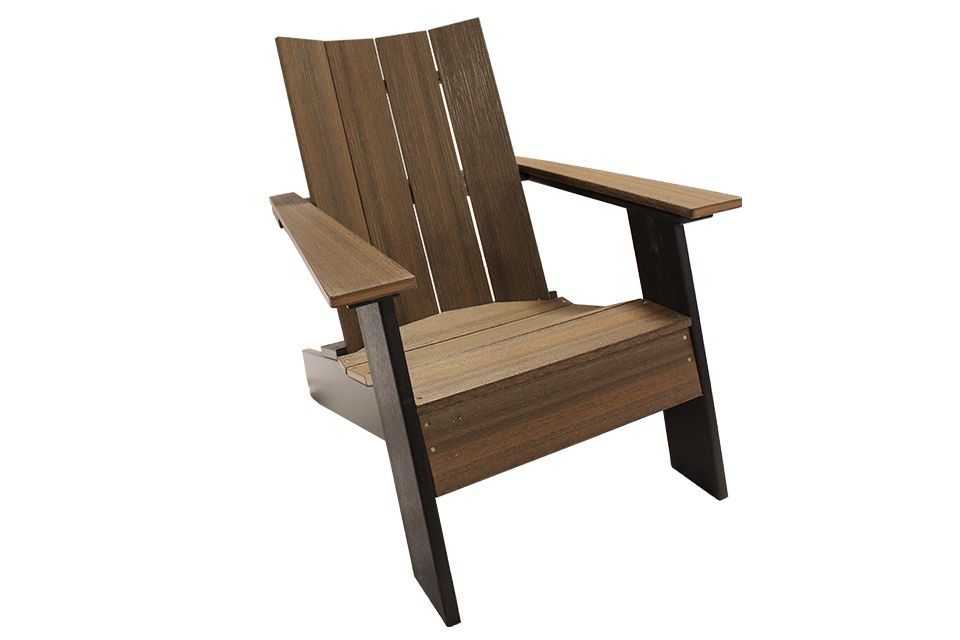 Outdoor Modern Adirondack - Brazilian Walnut/Black
