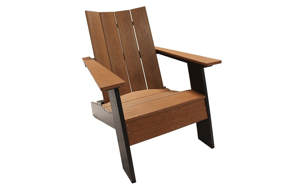 Outdoor Modern Adirondack - Walnut/Black