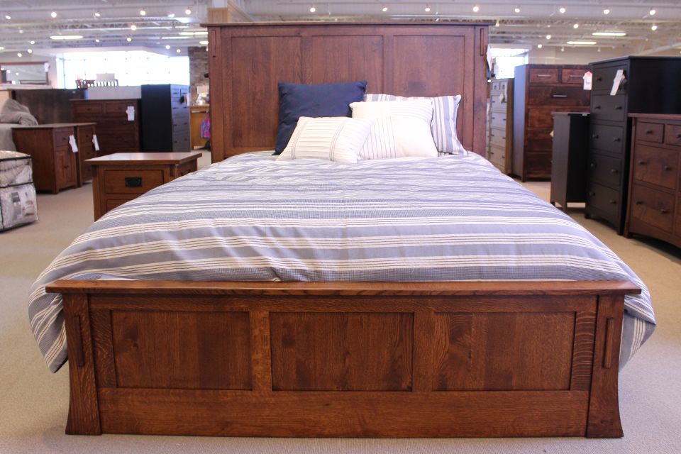 Rustic Quartersawn Oak Storage Bed