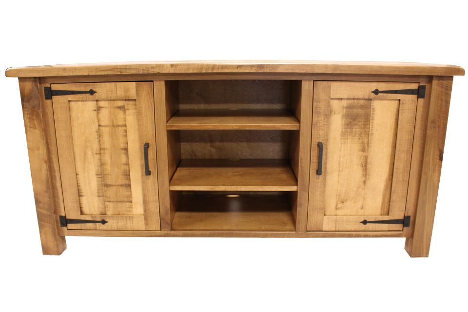 Rustic Brown Maple TV Console