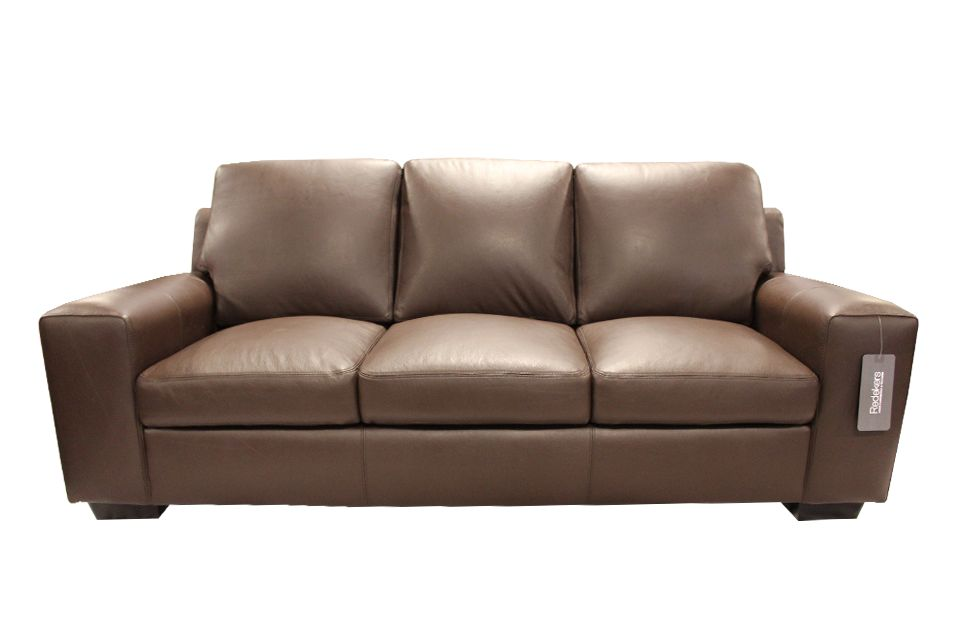 Leather Living Bailey Sofa in Mocha