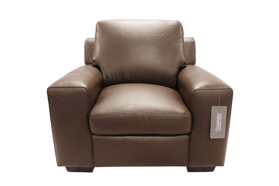 Leather Living Bailey Chair in Mocha
