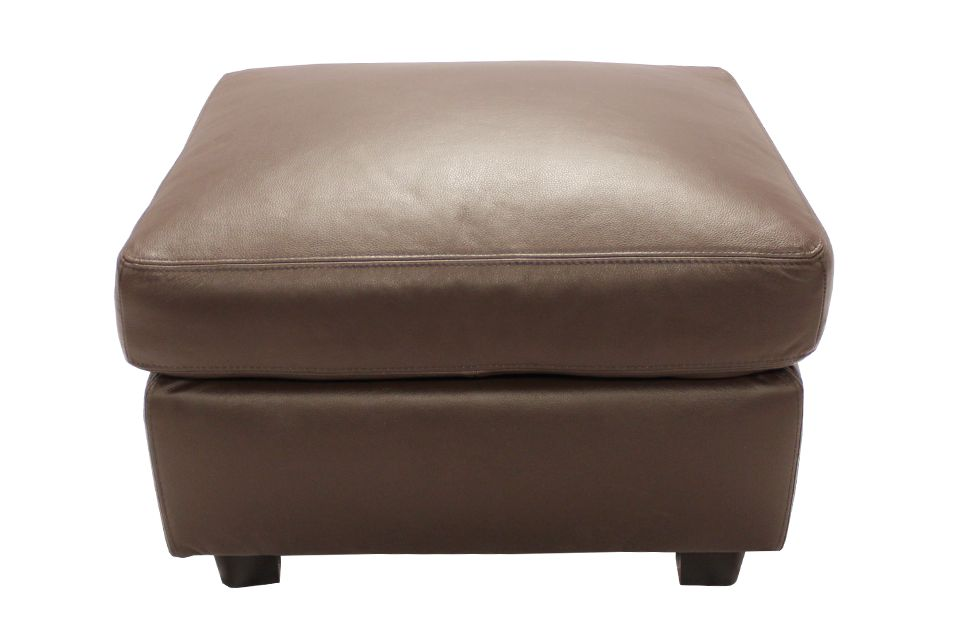 Leather Living Bailey Ottoman in Mocha