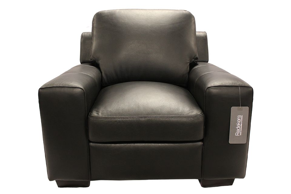 Leather Living Bailey Chair in Raven