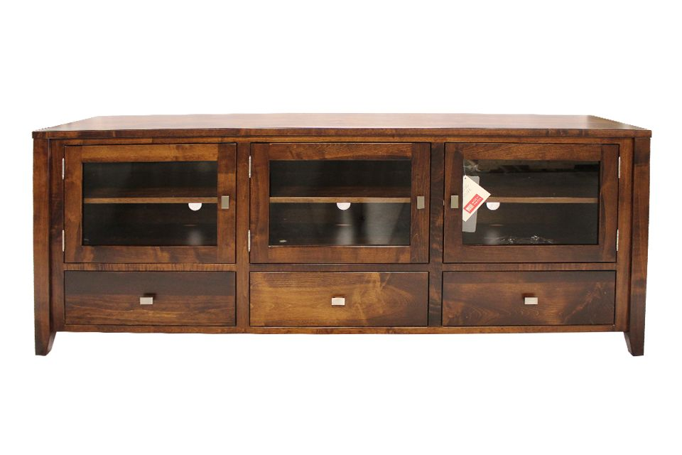 Brown Maple TV Console