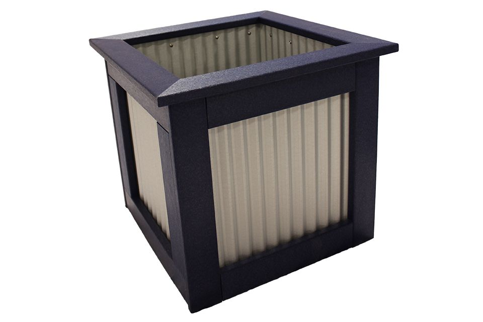 Outdoor Polywood Planter - Large Patriot Blue