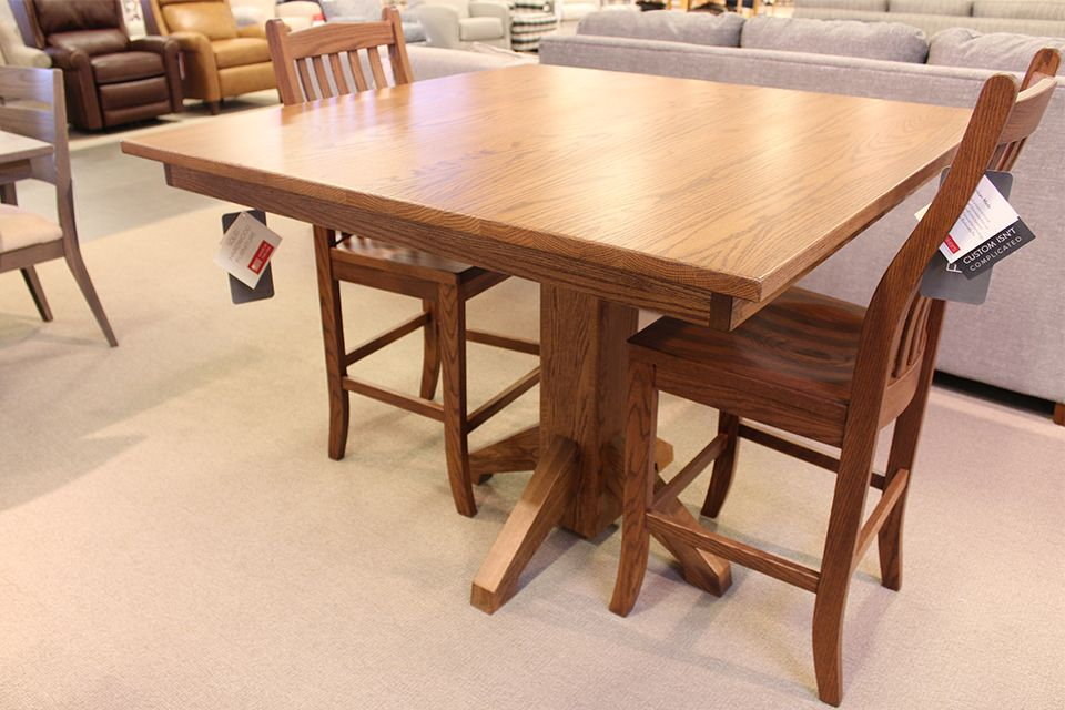 Oak Counter Height Dining Table