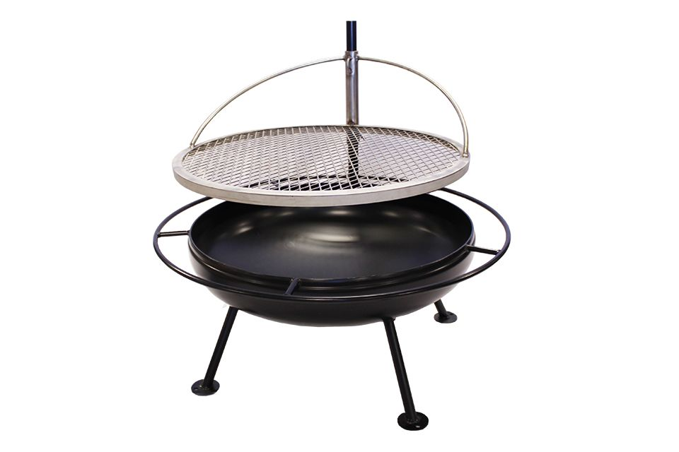 Outdoor Hand Welded Firepit and Grill