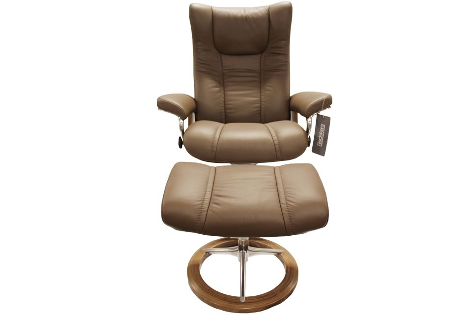 Ekornes Stressless Wing Signature Recliner and Ottoman