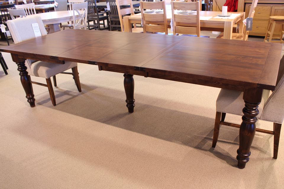 Brown Maple Dining Table with Two 12