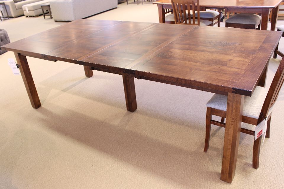Brown Maple Dining Table with Two Leaves