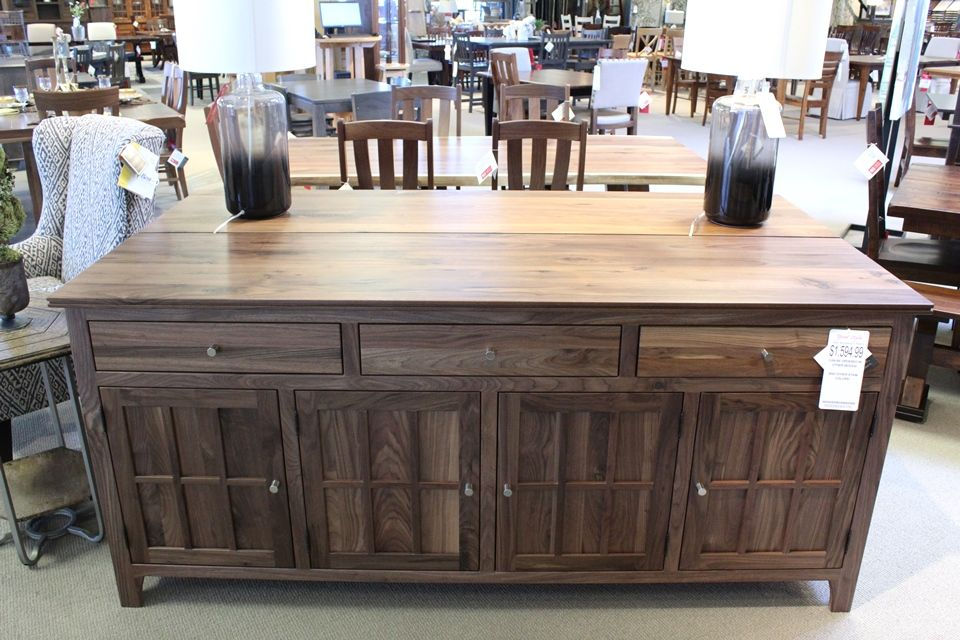 Rustic Walnut Buffet